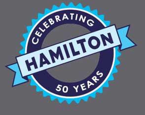 Hamilton Safe Celebrating 50 years graphic
