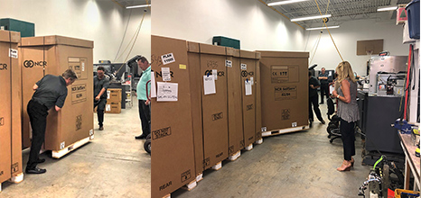 ITM Maintenance Contracts, Warehouse full of NCR ATMs and ITMs