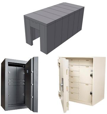 NJ NCR dealer, Images of safe and vaults for financial institution